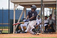 New York Yankees \Sincere Smith (24) bats during an Extended Spring Training game against the Detroit Tigers on June 19, 2021 at Tigertown in Lakeland, Florida.  (Mike Janes/Four Seam Images)