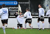 Racing Waregem - SK Eernegem : Yannick Dekeyzer viert zijn doelpunt (1-0)<br /> foto VDB / Bart Vandenbroucke
