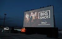 """LOS ANGELES, CA - APRIL 14: Disney + hosted the world premiere drive-in screening of the original series """"BIG SHOT"""" at The Grove in Los Angeles, California on April 14, 2021. (Photo by Frank Micelotta/Disney +/PictureGroup)"""