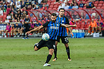 FC Internazionale Midfielder Antonio Candreva attempts a kick during the International Champions Cup match between FC Bayern and FC Internazionale at National Stadium on July 27, 2017 in Singapore. Photo by Marcio Rodrigo Machado / Power Sport Images
