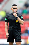 St Johnstone v Rangers…22.09.19   McDiarmid Park   SPFL<br />Referee Andrew Dallas<br />Picture by Graeme Hart.<br />Copyright Perthshire Picture Agency<br />Tel: 01738 623350  Mobile: 07990 594431