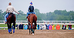 Members of the Waredaca Pony Club get an insiders view as Animal Kingdom, winner of the 137th Kentucky Derby, comes onto the training track to continue training for the Preakness at the Fair Hill Training Center on May 14, 2011 in Fair Hill, Maryland.