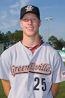 Michael Foltynewicz #25 of the Greeneville Astros at Burlington Athletic Stadium June22, 2010, in Burlington, North Carolina.  Foltynewicz was the 19th overall selection by the Houston Astros in the 2010 First Year Player Draft.  Photo by Brian Westerholt / Four Seam Images