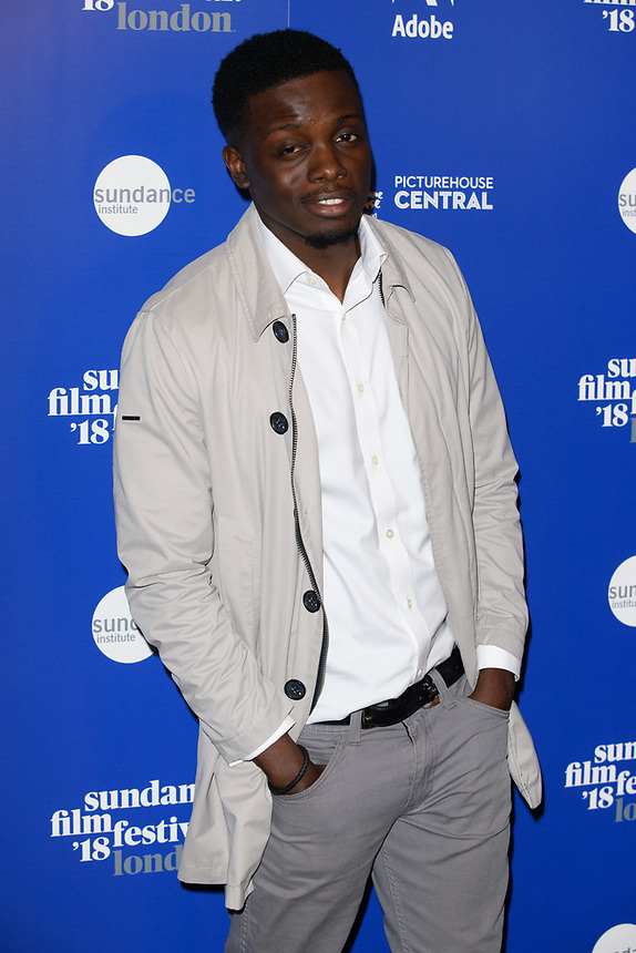"""Riaze Foster<br /> at the """"Yardie"""" premiere as part of the Sundance London Festival 2018, Picturehouse Central, London<br /> <br /> ©Ash Knotek  D3404  01/06/2018"""