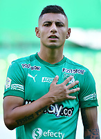 PALMIRA - COLOMBIA, 27-09-2020: Juan Daniel Roa del Cali durante el partido entre Deportivo Cali y Alianza Petrolera por la fecha 10 de la Liga BetPlay DIMAYOR I 2020 jugado en el estadio Deportivo Cali de la ciudad de Palmira. / Juan Daniel Roa of Cali during match between Deportivo Cali and Alianza Petrolera for the date 10 as part of BetPlay DIMAYOR League I 2020 played at Deportivo Cali stadium in Palmira city.  Photo: VizzorImage / Nelson Rios / Cont