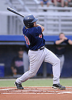 July 15, 2009: Infielder Anderson Hidalgo (10) of the Elizabethton Twins, rookie Appalachian League affiliate of the Minnesota Twins, in a game at Dan Daniel Memorial Park in Danville, Va. Photo by:  Tom Priddy/Four Seam Images