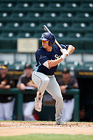 Charlotte Stone Crabs designated hitter David Olmedo-Barrera (6) at bat during a game against the Bradenton Marauders on June 3, 2018 at LECOM Park in Bradenton, Florida.  Charlotte defeated Bradenton 10-1.  (Mike Janes/Four Seam Images)