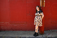 Dr. Rachel Kallem Whitman poses for a portrait in the Lawrenceville neighborhood on Thursday September 2, 2021 in Pittsburgh, Pennsylvania. (Photo by Jared Wickerham/Pittsburgh City Paper)