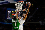 Real Madrid's player Anthony Randolph and Unics Kazan's player Orlando Johnson during match of Turkish Airlines Euroleague at Barclaycard Center in Madrid. November 24, Spain. 2016. (ALTERPHOTOS/BorjaB.Hojas)