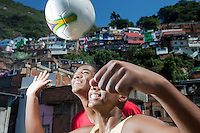 15-years old Brazilian boys playing soccer at Favela Santa Marta, Rio de Janeiro, Brazil.