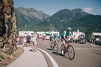 Jakob Fuglsang (DEN/Astana) up the final climb of the day (in Spain!): the Col du Portillon (Cat1/1292m)<br /> <br /> Stage 16: Carcassonne > Bagnères-de-Luchon (218km)<br /> <br /> 105th Tour de France 2018<br /> ©kramon