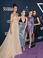 "LOS ANGELES, USA. November 12, 2019: Ella Balinska, Elizabeth Banks, Kristen Stewart & Naomi Scott at the world premiere of ""Charlie's Angels"" at the Regency Village Theatre.<br /> Picture: Paul Smith/Featureflash"