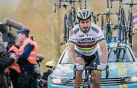Peter Sagan (SVK/Bora-Hansgrohe) appearing on top of the Paterberg thrown back due to a crash just before on the Oude Kwaremont<br /> <br /> 101th Ronde Van Vlaanderen 2017 (1.UWT)<br /> 1day race: Antwerp › Oudenaarde - BEL (260km)