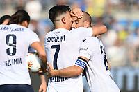 Celebration after a goal of Riccardo Orsolini <br /> Brescia 15/09/2019 Stadio Mario Rigamonti <br /> Football Serie A 2019/2020 <br /> Brescia Calcio - Bologna FC <br /> Photo Image Sport / Insidefoto