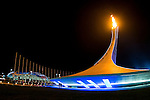 General view of The Olympic Flame during their Men's Ice Hockey Preliminary Round Group C game on day five of the 2014 Sochi Olympic Winter Games at Bolshoy Ice Dome on February 12, 2014 in Sochi, Russia. Photo by Victor Fraile / Power Sport Images