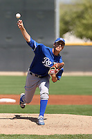 Jake Odorizzi #36 of the Kansas City Royals plays in a minor league spring training game against the Texas Rangers at the Rangers minor league complex, on March 22, 2011  in Surprise, Arizona. .Photo by:  Bill Mitchell/Four Seam Images.