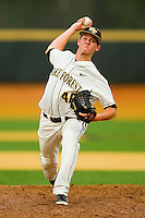 Wake Forest Demon Deacons starting pitcher Connor Kaden #40 in action against the Elon Phoenix at Wake Forest Baseball Park on May 1, 2012 in Winston-Salem, North Carolina.  The Demon Deacons defeated the Phoenix 7-5.  (Brian Westerholt/Four Seam Images)