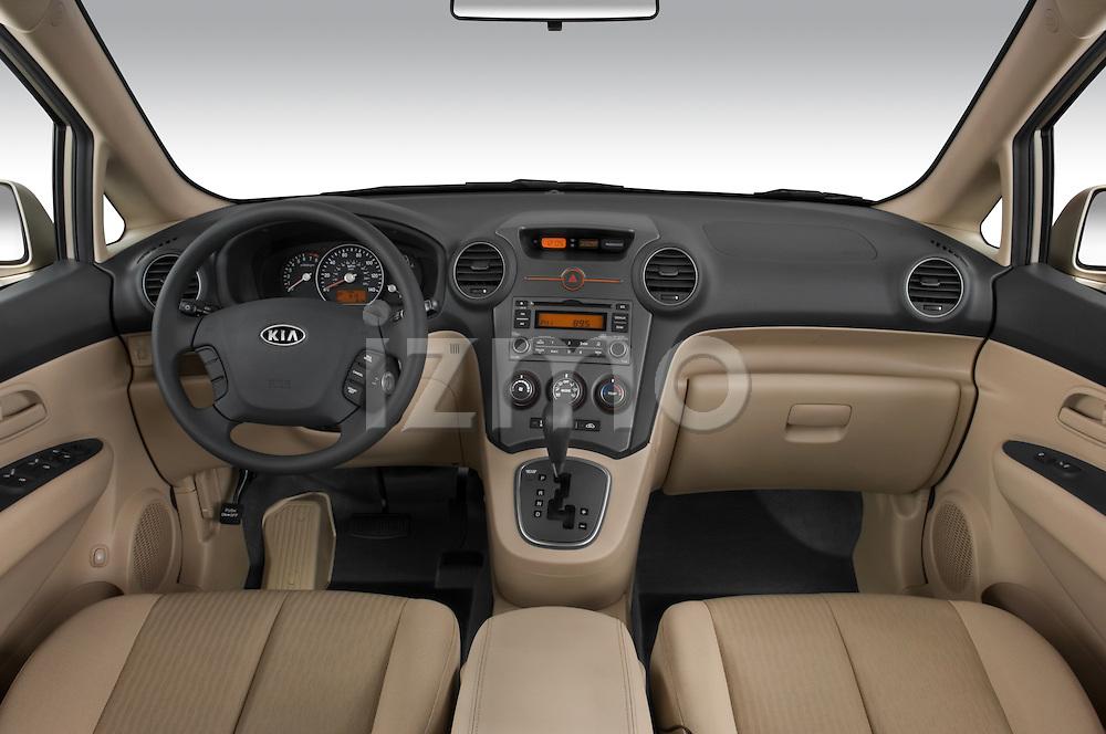 Straight dashboard view of a 2008 Kia Rondo EX V6