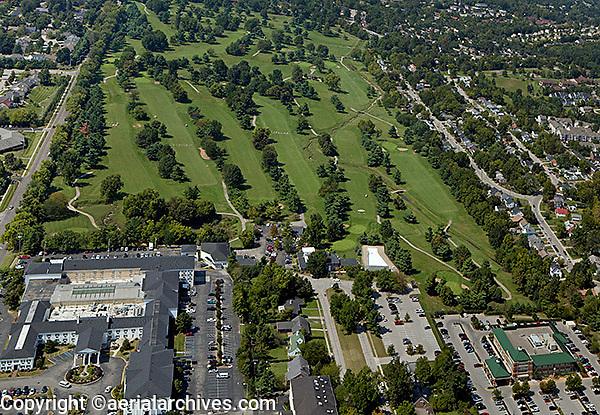 aerial photograph golf course Lexington, Kentucky