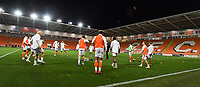Blackpool players warm up<br /> <br /> Photographer Dave Howarth/CameraSport<br /> <br /> EFL Trophy - Northern Section - Group G - Blackpool v Leeds United U21 - Wednesday 11th November 2020 - Bloomfield Road - Blackpool<br />  <br /> World Copyright © 2020 CameraSport. All rights reserved. 43 Linden Ave. Countesthorpe. Leicester. England. LE8 5PG - Tel: +44 (0) 116 277 4147 - admin@camerasport.com - www.camerasport.com