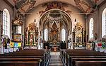 Deutschland, Bayern, Chiemgau, Samerberg-Toerwang:  Pfarrkirche Mariae Himmelfahrt - Altar | Germany, Bavaria, Chiemgau, Samerberg-Toerwang: parish church Mary Assumption - interior