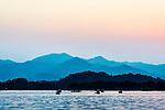 China, Zhejiang, Hangzhou, West Lake Sunset