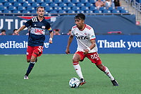 FOXBOROUGH, MA - JUNE 26: Dominick Hernandez #80 of North Texas SC advances the ball during a game between North Texas SC and New England Revolution II at Gillette Stadium on June 26, 2021 in Foxborough, Massachusetts.