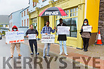 Residents of the Skellig Star Direct Provision Centre are holding fast on their intentions pictured here on Wednesday Day 2 of their Hunger Strike, pictured centre Azwar Fuard who has been the acting spokesperson for the Residents of the Centre.