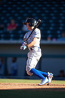 Surprise Saguaros Corey Toups (2), of the Kansas City Royals organization, during a game against the Mesa Solar Sox on October 14, 2016 at Sloan Park in Mesa, Arizona.  Mesa defeated Surprise 10-4.  (Mike Janes/Four Seam Images)