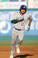 May 19, 2010: Coco Crisp of the Stockton Ports during game against the Lake Elsinore Storm at The Diamond in Lake Elsinore,CA.  Photo by Larry Goren/Four Seam Images