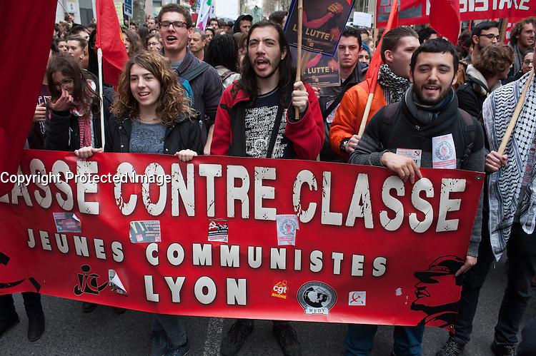 MANIFESTION CONTRE LA LOI DU TRAVAIL EL KHOMRI A LYON