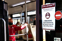 Buses<br /> Rome May 4th 2020. Covid-19, Italy enters the phase two of the coronavirus emergency. Photo Samantha Zucchi Insidefoto