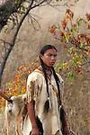 A Native American Indian man in the prairie of South Dakota