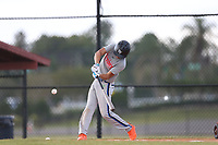 Ben Gilbert (58) of Lake Wales High School in Babson Park, Florida during the Under Armour Baseball Factory National Showcase, Florida, presented by Baseball Factory on June 12, 2018 the Joe DiMaggio Sports Complex in Clearwater, Florida.  (Nathan Ray/Four Seam Images)