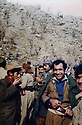 Iraq 1976 .2nd right, Adnan Mufti, peshmerga In the group of Jalal Talabani with a brown hat behind, at the border of Iran .Iran 1976 .2eme a droite, Adnan Mufti, peshmerga dans le groupe de Jalal Talabani portant un bonnet brun derriere, a la frontière iranienne