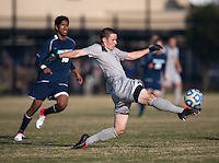Keegan Rosenberry (12) of Georgetown takes control of the ball during the game at North Kehoe Field in Washington, DC.  Georgetown defeated San Diego, 3-1.