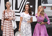 NEW YORK, NY- July 20: Cynthia Nixon, Kristin Davis and Sarah Jessica Parker on the set of the HBOMax Sex And The City reboot series And Just Like That on July 20, 2021 in New York City. <br /> CAP/MPI/RW<br /> ©RW/MPI/Capital Pictures