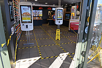 A deserted branch of McDonald's in Waltham Abbey during the COVID-19 pandemic on 22nd March 2020