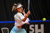 Den Bosch, The Netherlands, April 16, 2021,    Maaspoort, Billy Jean King Cup  Netherlands -  China , seccond day seccond match:   Xinyu Wang (CHN)<br /> Photo: Tennisimages/Henk Koster