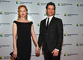 Thomas Kail and Angela Christian arrive for the formal Artist's Dinner honoring the recipients of the 41st Annual Kennedy Center Honors hosted by United States Deputy Secretary of State John J. Sullivan at the US Department of State in Washington, D.C. on Saturday, December 1, 2018. The 2018 honorees are: singer and actress Cher; composer and pianist Philip Glass; Country music entertainer Reba McEntire; and jazz saxophonist and composer Wayne Shorter. This year, the co-creators of Hamilton writer and actor Lin-Manuel Miranda, director Thomas Kail, choreographer Andy Blankenbuehler, and music director Alex Lacamoire will receive a unique Kennedy Center Honors as trailblazing creators of a transformative work that defies category.<br /> Credit: Ron Sachs / Pool via CNP