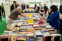 Hay on Wye, UK. Friday 27 May 2016<br /> People browse in the book shops at hay <br /> The 2016 Hay festival take place at Hay on Wye, Powys, Wales