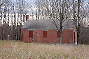 Bell Hill Schoolhouse during the autumn months. Located in Otisfield, Maine USA.This schoolhouse was built in 1839 and is listed on the National Register of Historic Places...