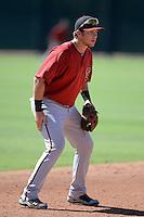 Arizona Diamondbacks third baseman Brandon Drury (23) during an Instructional League game against the Cincinnati Reds on October 5, 2013 at Salt River Fields at Talking Stick in Scottsdale, Arizona.  (Mike Janes/Four Seam Images)