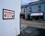 County Clare, Ireland<br /> Street scene with Guinness advertising sign at Bunratty Folk Park