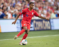 KANSAS CITY, KS - JUNE 26: Reggie Cannon #14 during a game between United States and Panama at Children's Mercy Park on June 26, 2019 in Kansas City, Kansas.