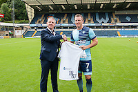 Garry Thompson of Wycombe Wanderers during the Wycombe Wanderers 2016/17 Team & Individual Squad Photos at Adams Park, High Wycombe, England on 1 August 2016. Photo by Jeremy Nako.