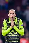 Bas Dost of Sporting CP reacts during the UEFA Europa League quarter final leg one match between Atletico Madrid and Sporting CP at Wanda Metropolitano on April 5, 2018 in Madrid, Spain. Photo by Diego Souto / Power Sport Images