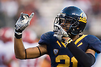 October 22th, 2011:  Keenan Allen of California celebrates after Zach Maynard's touchdown during a game against Utah at AT&T Park in San Francisco, Ca  -  California defeated Utah