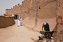 Morocco - Ouarzazate - A view of an alley in the Kasbah Taourirt, the Old City of Ouarzazate. Before studios were built, several movies used the Kasbah for their setting, including Rules of Engagement, a 2000 movie starring Samuel L. Jackson and Tommy Lee Jones and set in Yemen. In order to stage an attack against the American embassy in Yemen, the production hired the whole Kasbah and hundreds of its inhabitants as background actors.