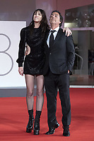 Charlotte Gainsbourg and Yvan Attal attending the Les Choses Humaines Premiere as part of the 78th Venice International Film Festival in Venice, Italy on September 09, 2021. <br /> CAP/MPI/IS/PAC<br /> ©PAP/IS/MPI/Capital Pictures